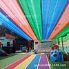 水上乐园泳池遮阳防晒网 彩色立体流苏遮阳网 幼儿园遮阴网