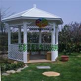合肥防腐木四角六角景观凉亭花架公园景区休闲仿古亭子带围栏坐凳