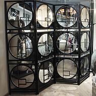 佛山金筑达客厅镂空304不锈钢隔断    黑钛不锈钢花格屏风