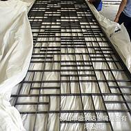 佛山金筑达厂家直供不锈钢屏风隔断    黑钛不锈钢花格屏风