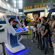 VR虚拟现实游戏设备VR时空穿梭飞行器360度旋转座椅体验馆设备拓普互动