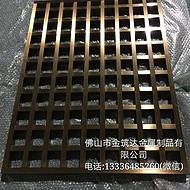 广州金筑达拉丝不锈钢屏风隔断    镂空不锈钢花格隔断