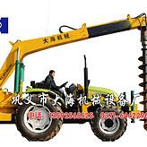 山地拖拉机挖坑机专利产品*
