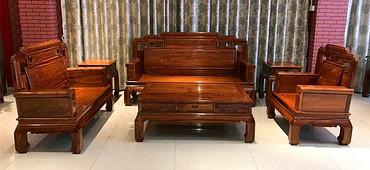 新中式红木家具 刺猬紫檀红木国色天香弯腿沙发6件套招商加盟中