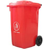 重庆100L揭盖带轮环保塑料垃圾桶