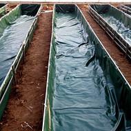 新型养鱼养虾池塘帆布技术 黄鳝帆布池塘 PVC涂塑布养殖水产池