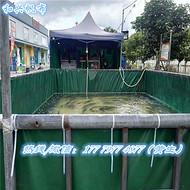养殖帆布水池 帆布鱼池 PVC涂层布蓝色养殖帆布水池 移动帆布鱼池 PVC涂层布