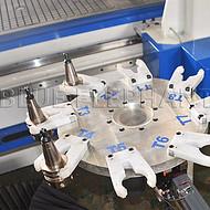 河北双工位圆盘换刀加工中心 速度快 能效高 大功率双头生产设备