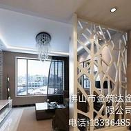 金筑达欧式不锈钢屏风隔断   客厅不锈钢花格屏风
