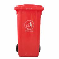 挂车垃圾桶240L加厚5mm环卫配套塑料,挂车垃圾桶价格/报价