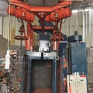 Q376双吊钩式电动葫芦抛丸机 铸件铝件去氧化皮吊钩式抛丸机