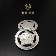 厂家专业定做纯银徽章 镂空银质徽章 创意银胸章订制