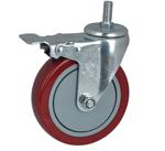 精益工作台脚轮 膨胀式脚轮 周转车脚轮 压板式脚轮
