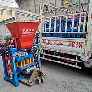 邢台甲庚4-35C带料斗水泥实心砖机 砖机中的印钞机