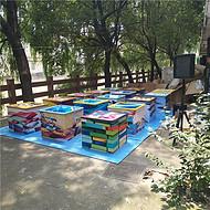 上海家庭日真人版跳一跳活动道具租赁脚踢式台球出租