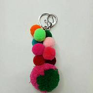 毛球串挂件毛球钥匙扣