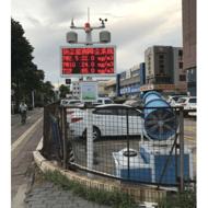 四川乐山市扬尘在线监测设备联动喷淋降尘系统