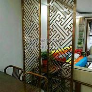 客厅不锈钢屏风隔断拉丝金属花格玄关定制欧式玫瑰金镂空雕花屏风
