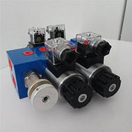 抓木器电磁阀电磁多路阀片式多路阀手动电磁一体多路阀