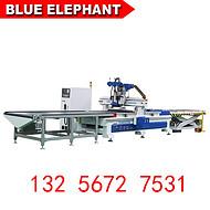 蓝象数控木工雕刻机 1325橱柜门雕刻机 板式家具生产线厂家