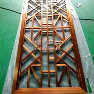 欧式雕刻雕花铝屏风 玫瑰金电镀酒店不锈钢屏风