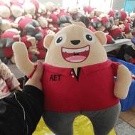 深圳实力厂家大熊毛绒公仔定制 来图来样定做礼品毛绒布娃娃