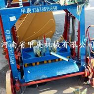 免托板行走式制砖机设备 河南甲庚4-45大轮移动砖机打路沿石设备
