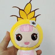 毛绒玩具定制 可爱玉米女孩企业吉祥物定做
