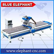 蓝象数控 双工位四工序加工中心开料机