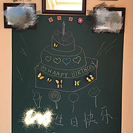 销售磁善家居家涂鸦画画双层磁性绿板贴