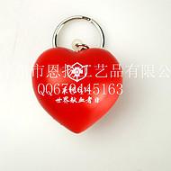 恩扬 小红桃心匙扣 pu发泡玩具匙扣  可定制生产 印logo