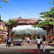 水泥仿真树大门制作景区仿真树大门图片设计