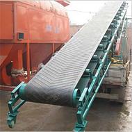 襄樊加工沙石装车用双向升降槽型托辊输送机01