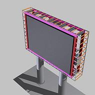 led显示屏钢结构 显示屏安装方式 室内磁吸显示屏安装  户外立柱显示屏包边