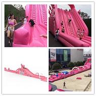 2018新款活动宣传利器粉色水上冲关出租粉色鲸鱼岛乐园租赁活动现场照片