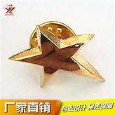 优秀员工管理勋章星星徽标立体五角星徽章西装领针金色五角星胸针