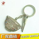 厂家热卖直销 金碗银碗镶钻钥匙扣挂件 情侣钥匙配饰 可定制