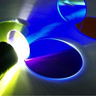 照明灯具彩色滤光片蓝光颜色过滤片