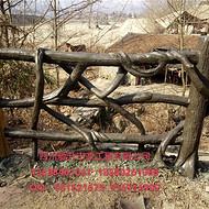 供应甘孜德格县水泥仿树皮护栏、白玉县仿树桩桌子、石渠县手工栏杆