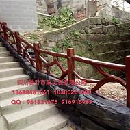 供应西藏昌都城市建设仿木护栏,景区仿树藤栏杆