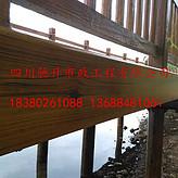 供应成都双流钢结构仿木花架漆,仿木亭子漆,方管仿木纹漆施工