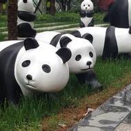 卡通模型展览道具供应设备出租 熊猫展租赁