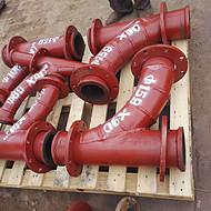 齐丰219内衬陶瓷耐磨钢管 河南省洛阳衬瓷弯头大全