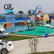 广州沁洋水上乐园设备厂家设计定制大型户外水上竞技闯关冲关