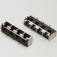 供应纬力RJ45网口PCB插座连接器接线端子