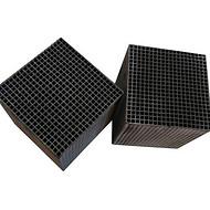 供应 泰安 石化行业废气处理用活性炭工业脱硫载体用蜂窝活性炭块