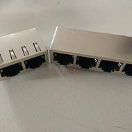 供应纬力RJ45+USB网口电脑主板连接器