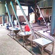 西峡不锈钢送料机 螺旋提升机高清图