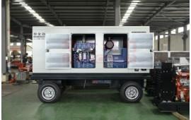玉柴300千瓦移动静音柴油发电机组,国三排放,底座油箱 (3990播放)