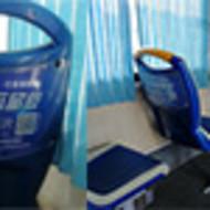 生活美容客户投放长沙公交车广告--长沙公交车座椅靠背广告